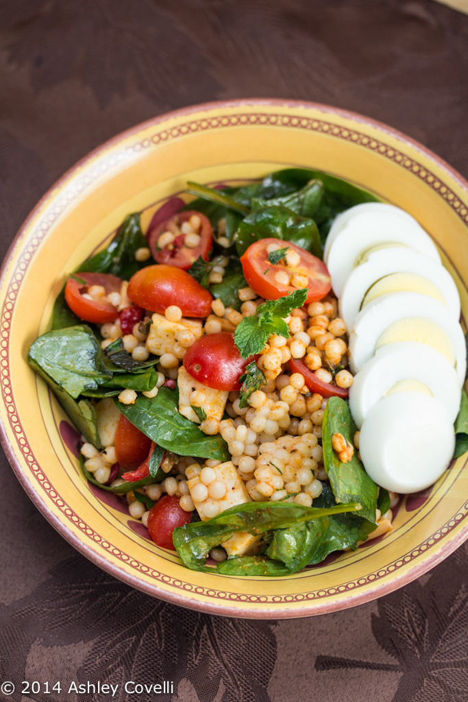 Israeli Couscous Salad With Smoked Paprika Tomatoes And Mozzarella Big Flavors From A Tiny Kitchen