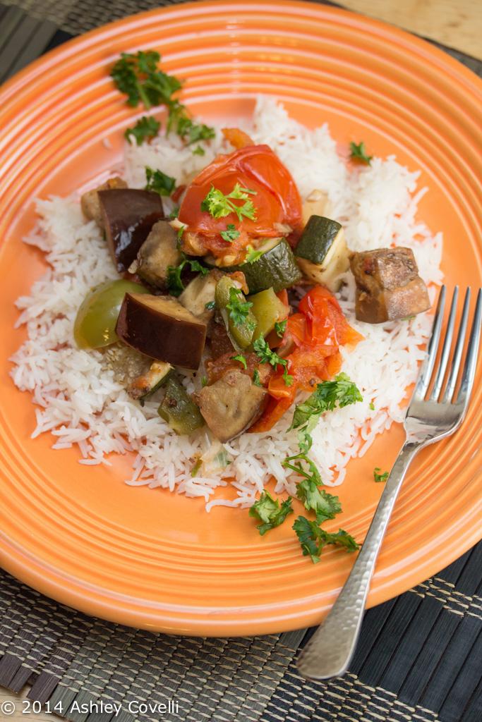 Slow Cooker Lebanese Eggplant Stew