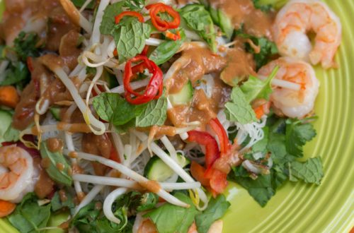 Vietnamese Summer Roll Salad with Peanut Dressing