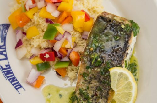 Pan-Fried Barramundi with Lemon-Herb Oil
