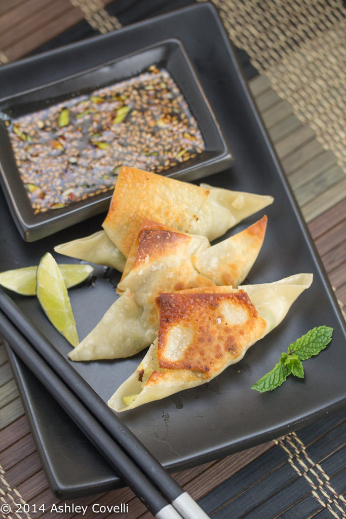 Spring Vegetable Potstickers + Sweet Chili Soy Dip