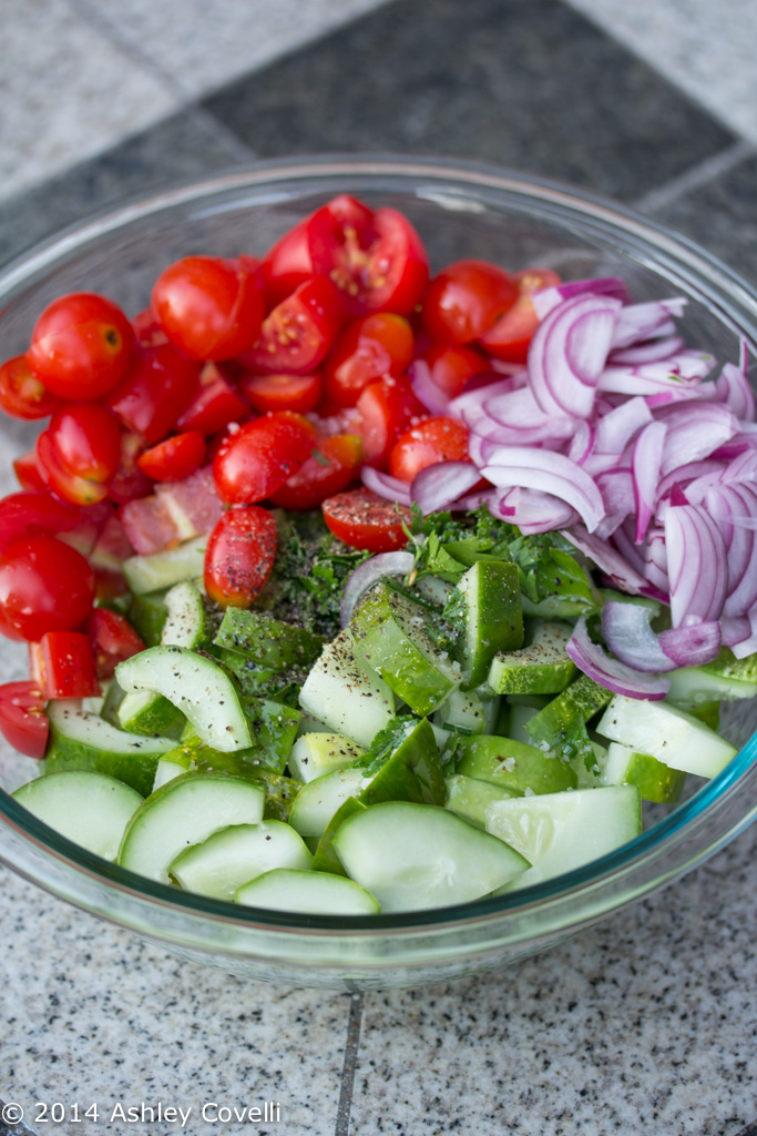 Summer Cucumber and Herb Salad