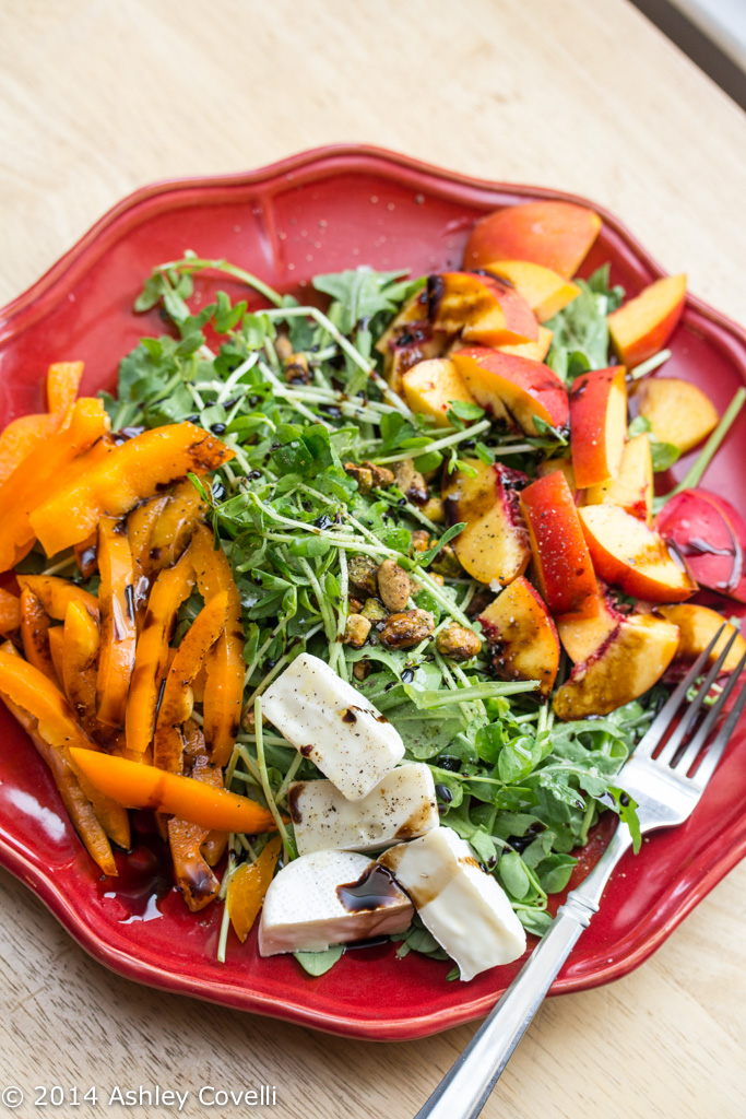 Green and Orange Salad with Brie