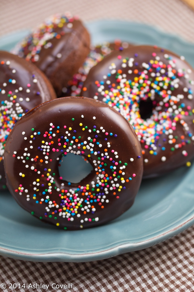 Baked Chocolate Doughnuts with Chocolate Glaze