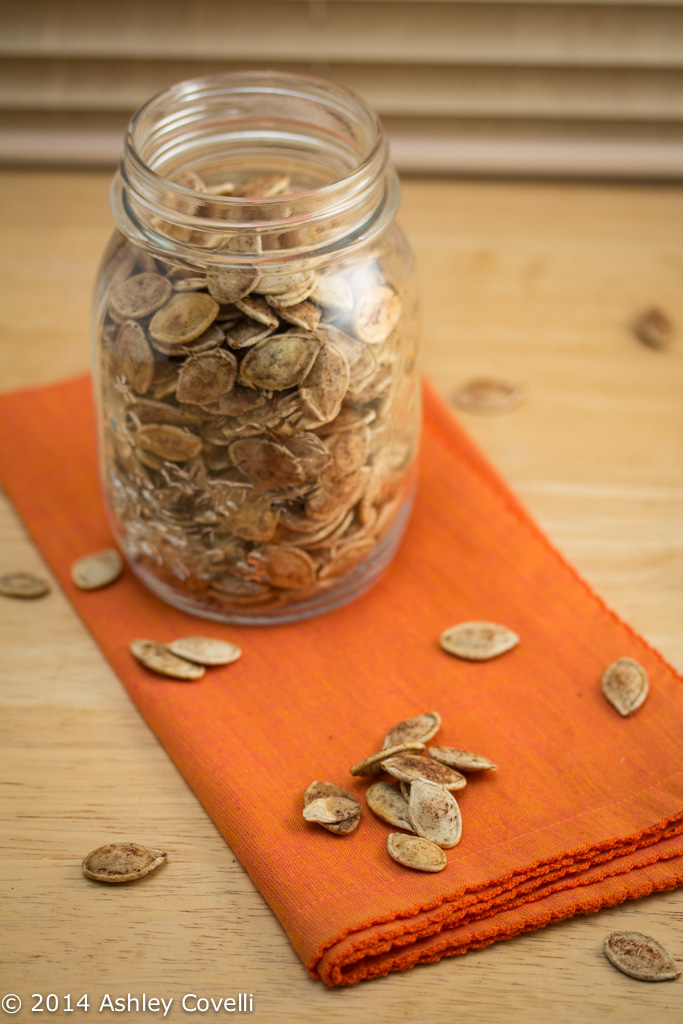 Sweet and Salty Pie Spiced Roasted Pumpkin Seeds