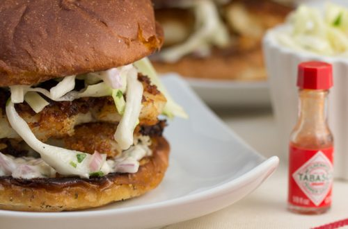 Crispy Fish Sandwiches with Coleslaw & Homemade Tartar Sauce