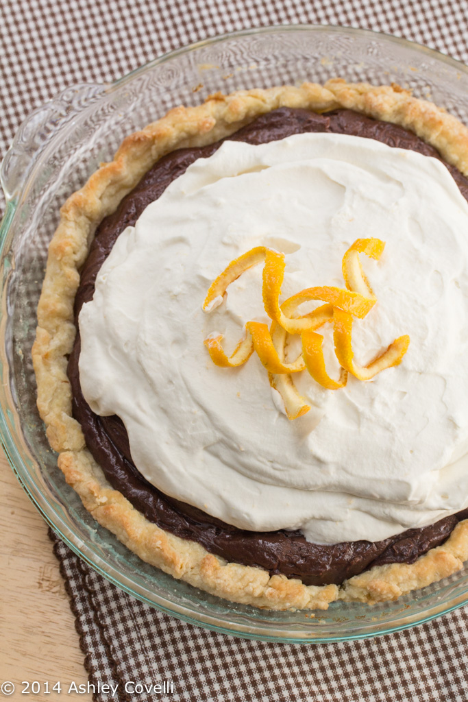 Chocolate Cream Pie with Orange Zested Whipped Cream