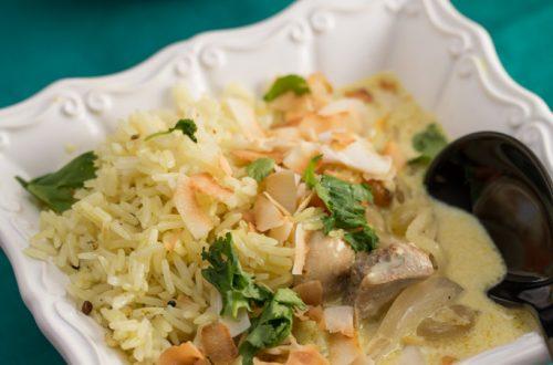 Chicken Mulligatawny Soup with Kohlrabi & Basmati Rice