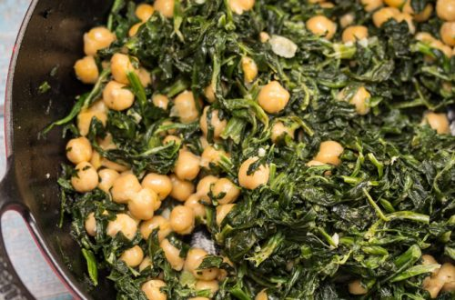Creamed Spinach with Chickpeas