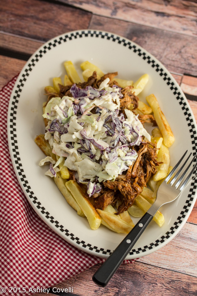 Bar-B-Q Pulled Pork Fries with Cole Slaw