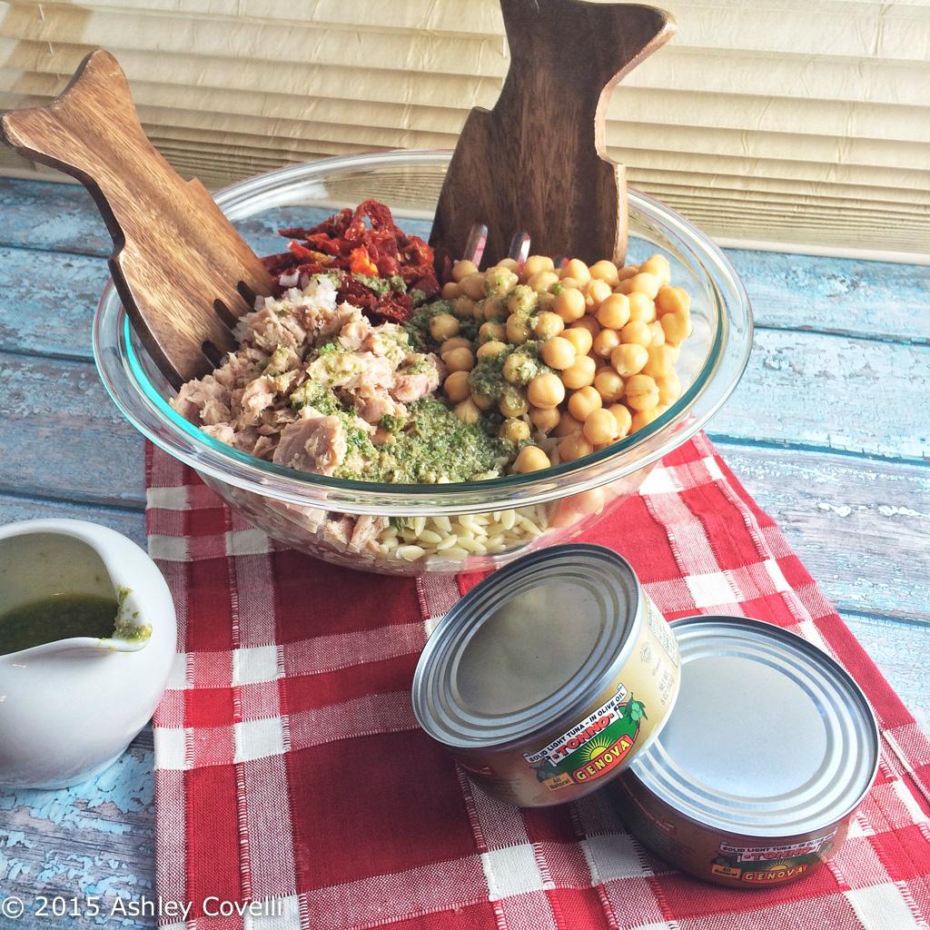 Tuna and Orzo Lettuce Wraps with Parsley-Caper Vinaigrette