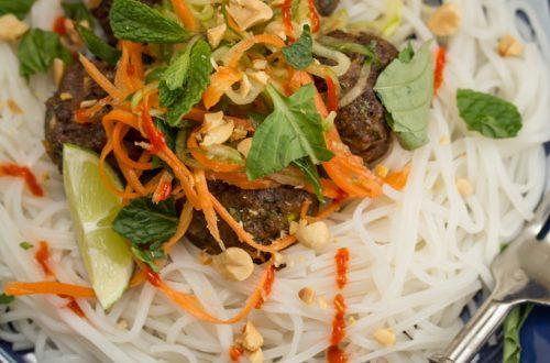 "Vietnamese ""Spaghetti"" + Meatballs"