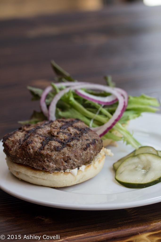 Grazin' TriBeCa's Lamb Burger