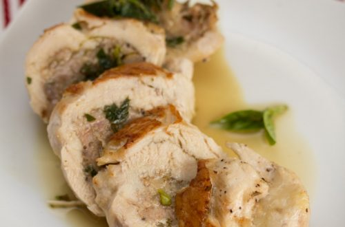 Sausage and Provolone Stuffed Chicken