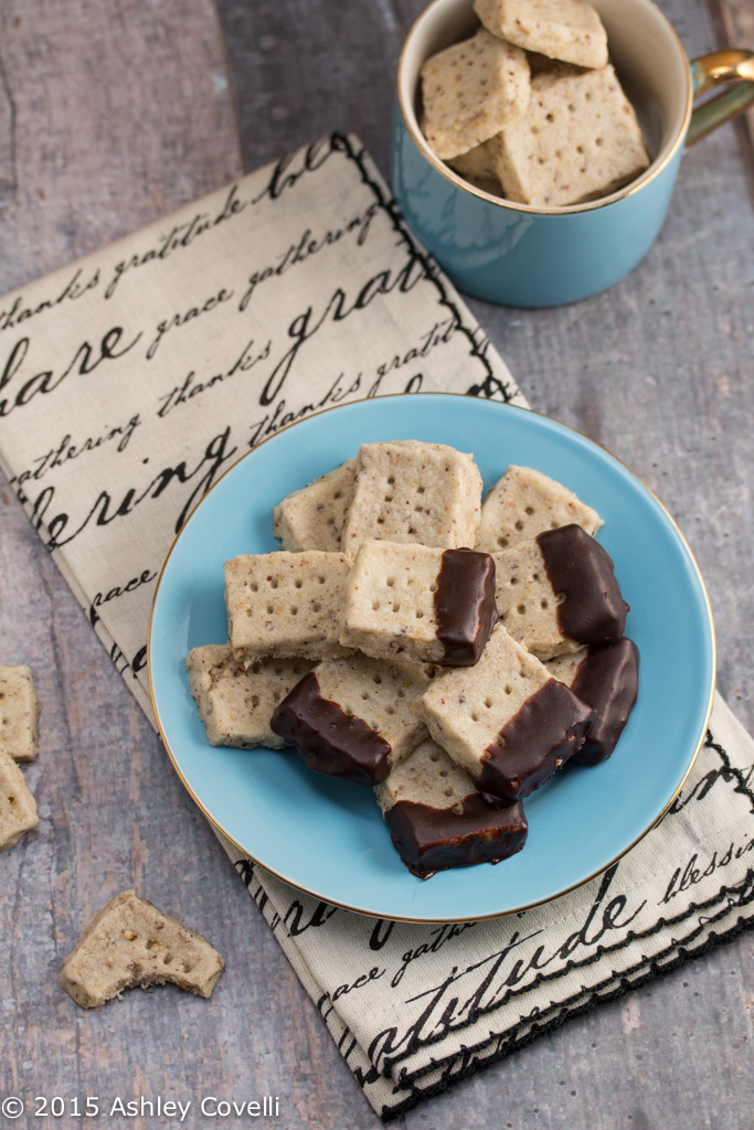 Dark Chocolate Dipped Pecan Sandies