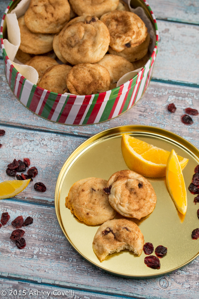 Cranberry Orange Snickerdoodles