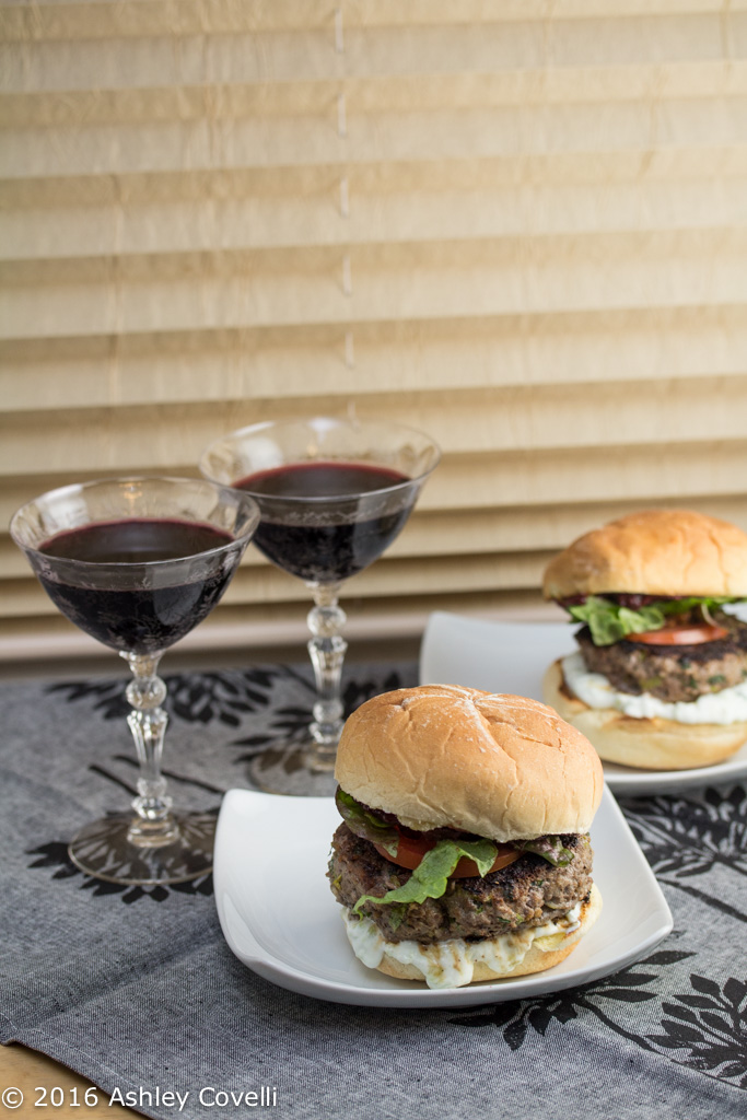 Big Flavors from a Restaurant Kitchen Volume 10: Persian Malbec Lamb Burgers with Mast-o-Khiar and Pomegranate Tomato Jam