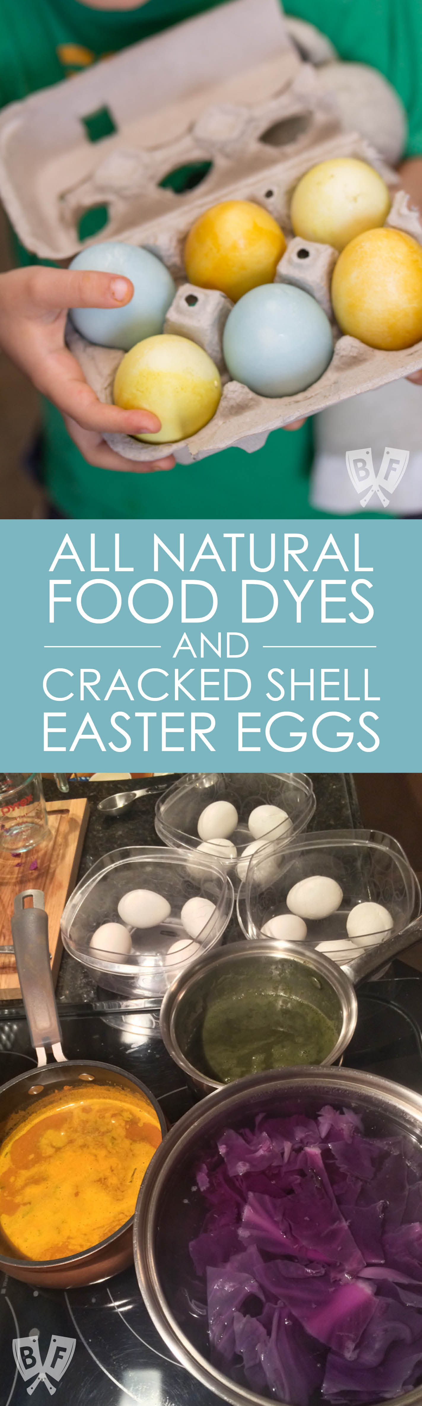 Ditch the store-bought egg dye kits this Easter and make your own with ingredients found in your kitchen. A fun experiment for kids!