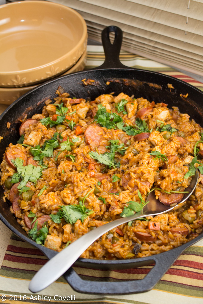 Spanish Chicken + Sausage Skillet