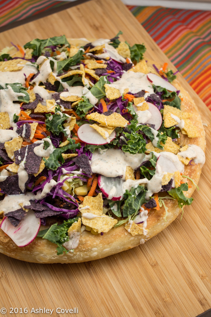 Deep Dish Southwest Salad Pizza