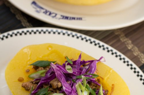 Sweet & Spicy Asian Pork-Stuffed Spaghetti Squash