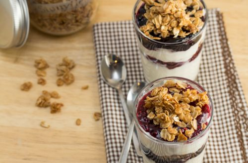 Pie Spiced Granola + Yogurt Parfaits