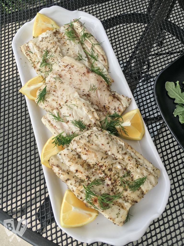 Bavarian Grilled Sand Shark with Lemon + Dill
