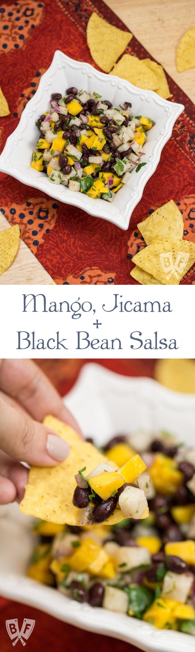 Mango, Jicama + Black Bean Salsa