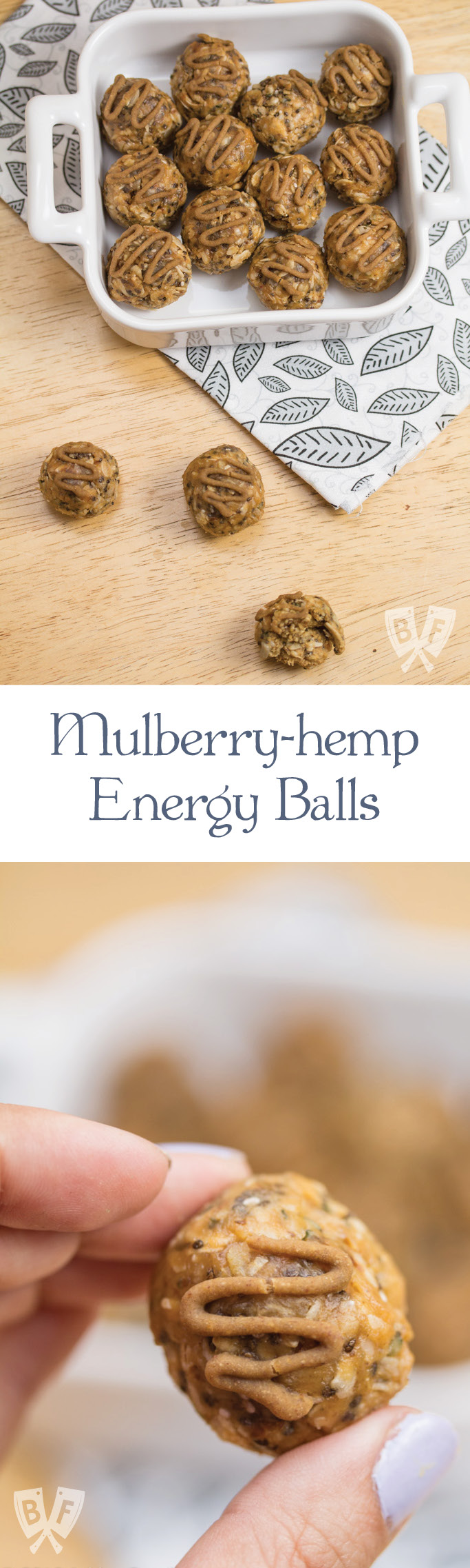 Mulberry-Hemp Energy Balls: These bites are jam-packed full of protein & superfoods – perfect for an energy boost when you're on-the-go.