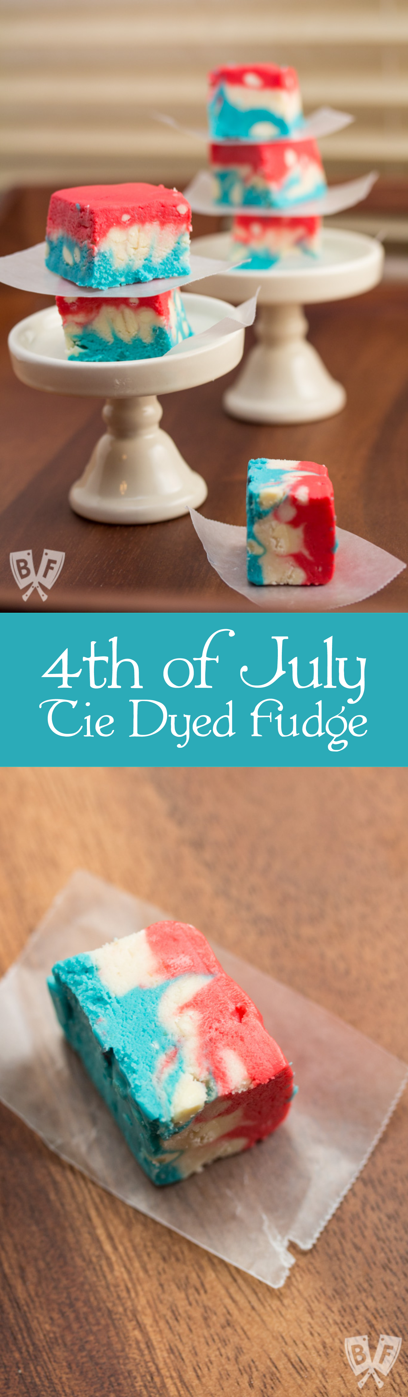 4th of July Tie Dyed Fudge