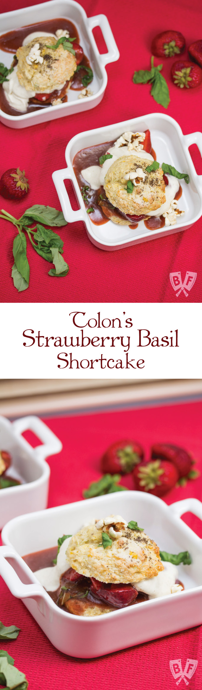 Big Flavors from a Restaurant Kitchen Volume 12: Tolon's Strawberry Basil Shortcake: This installment features the results I got baking Chef Matthew Nolot's Strawberry Basil Shortcake recipe in my tiny kitchen!
