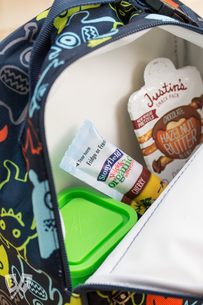 Back to School Lunch Kabobs: Food on a stick is always more fun, especially when paired with yogurt & nut butter. Plus a review of PackIt freezable lunch boxes. #StonyfieldBlogger