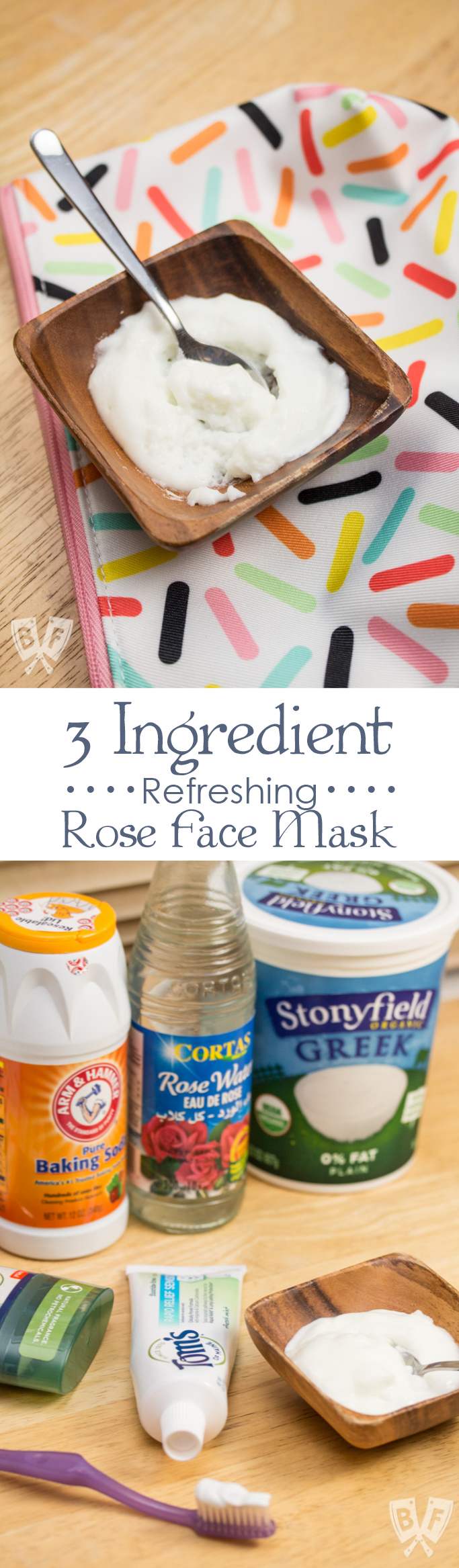 3 Ingredient Refreshing Rose Face Mask: This all natural beauty treatment gently exfoliates and moisturizes in just 5 minutes!