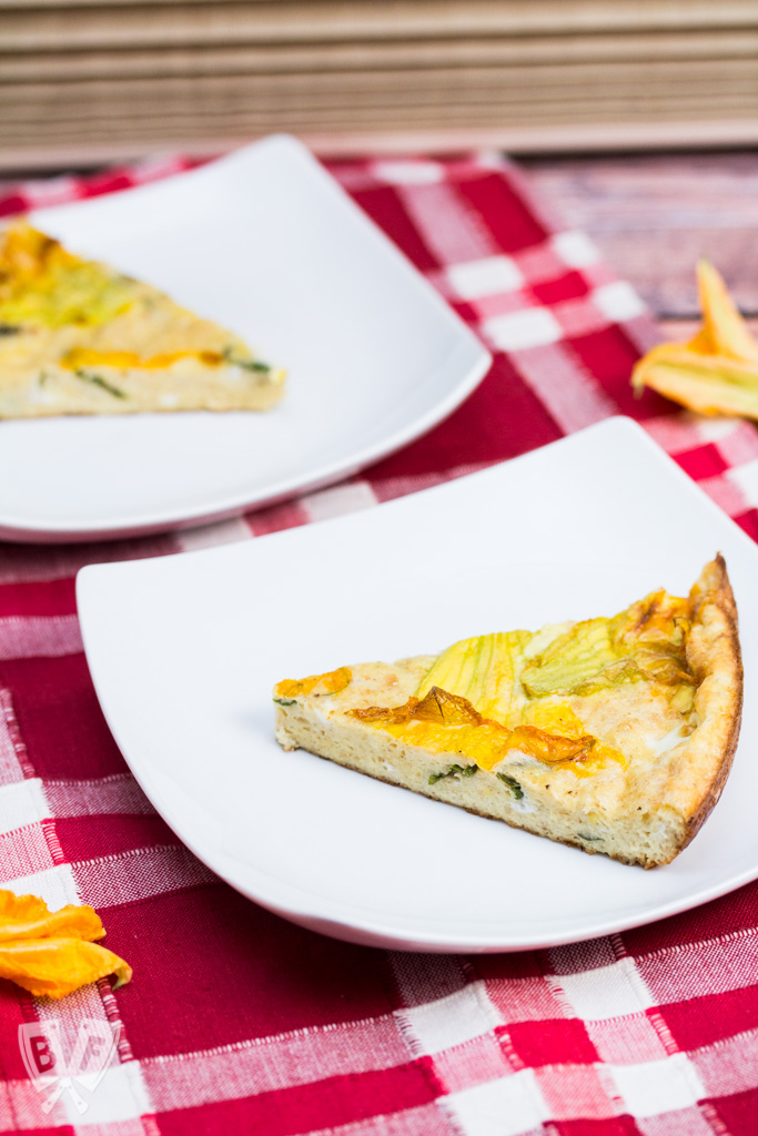 Squash Blossom Frittata: Edible flowers are a gorgeous addition to this Italian classic.