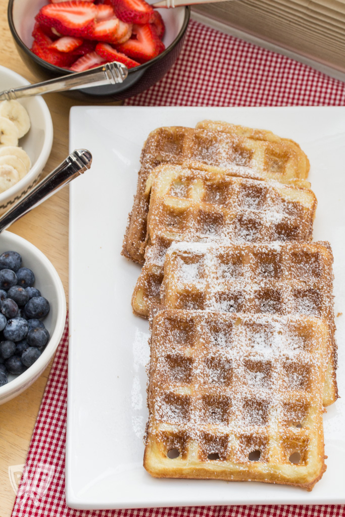 Overnight Yeasted Waffles: A bit of nighttime prep helps make this breakfast classic nice and fluffy the next morning. #BigFlavorsBrunchWeek #BigFlavorsHangoverWeek