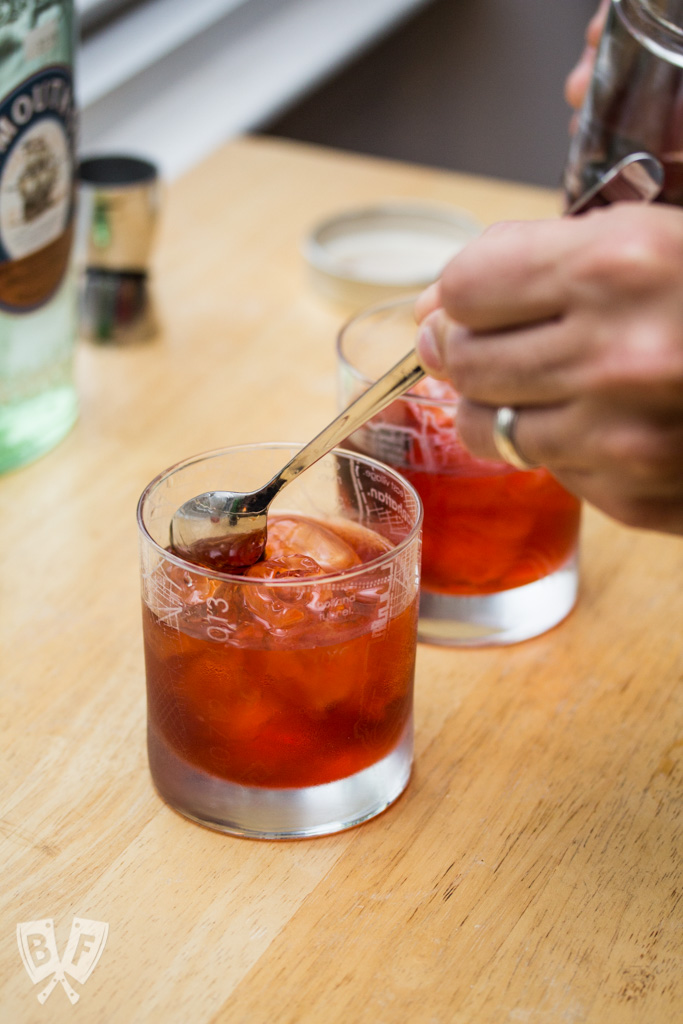 The Ultimate Negroni: Gin, vermouth & Campari come together in this classic cocktail.