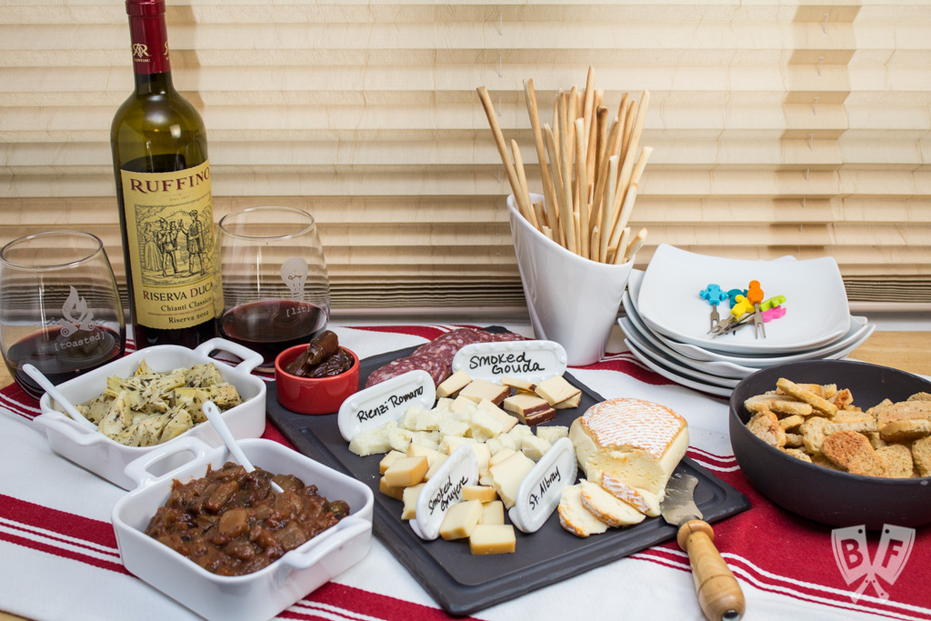 This Appetizer Spread was the perfect start to a meal featuring Coffee Pork Chops #NYCWFF #ad