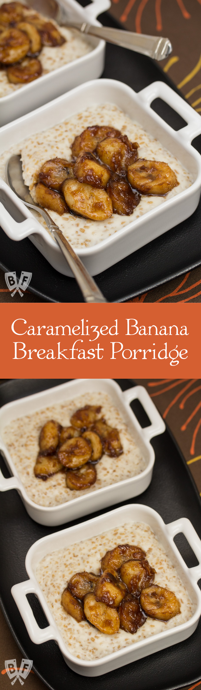 Caramelized Banana Breakfast Porridge: Coconut sugar turns into an ooey gooey topping for these creamy, vanilla-scented bowls of comfort food.