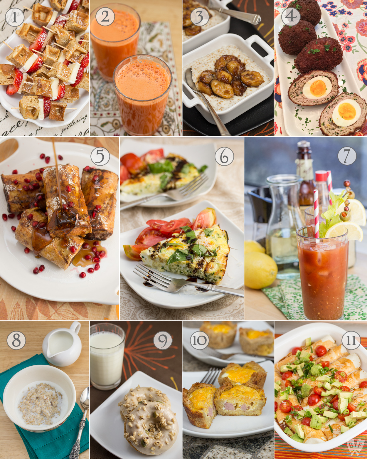 Brunch Week Recipe Roundup: Celebrate the best meal of the day with some of our favorite brunch food & cocktail recipes!