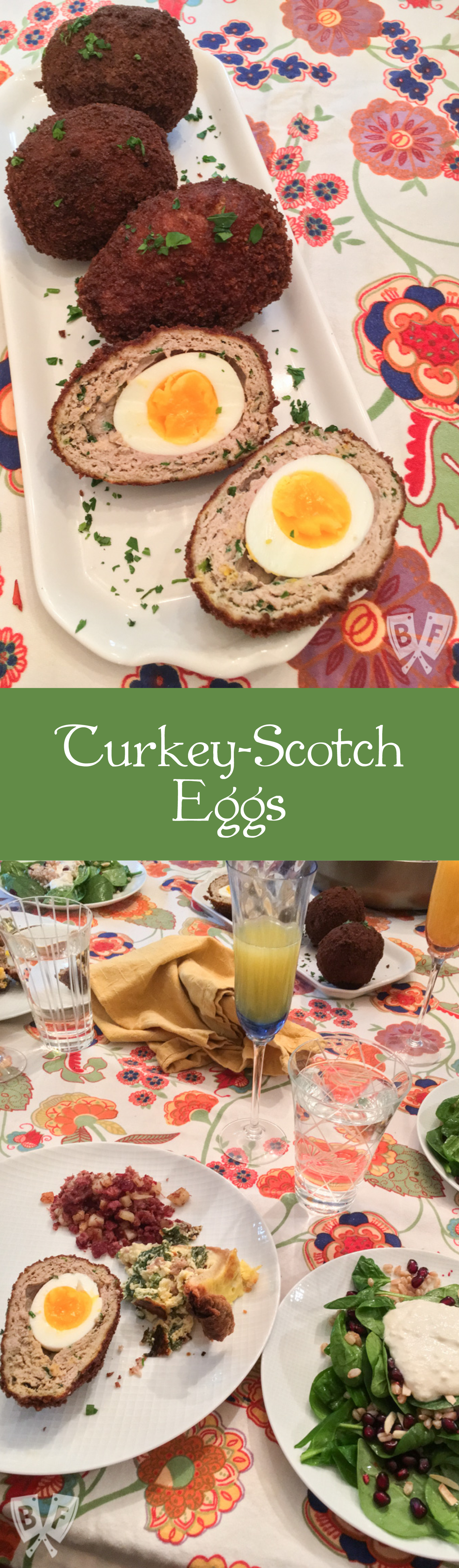 Turkey-Scotch Eggs: A panko-crusted homemade sausage mix makes the perfect crispy coating for this beautifully decadent English egg recipe.