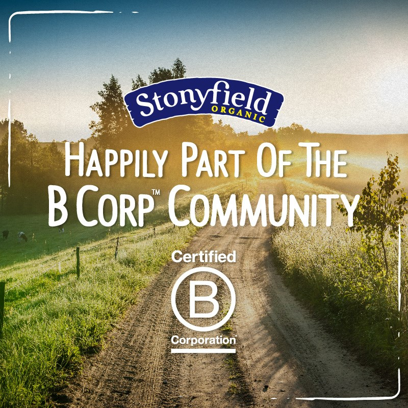Stonyfield: Happily Part of the B Corp Community #StonyfieldBlogger #ad