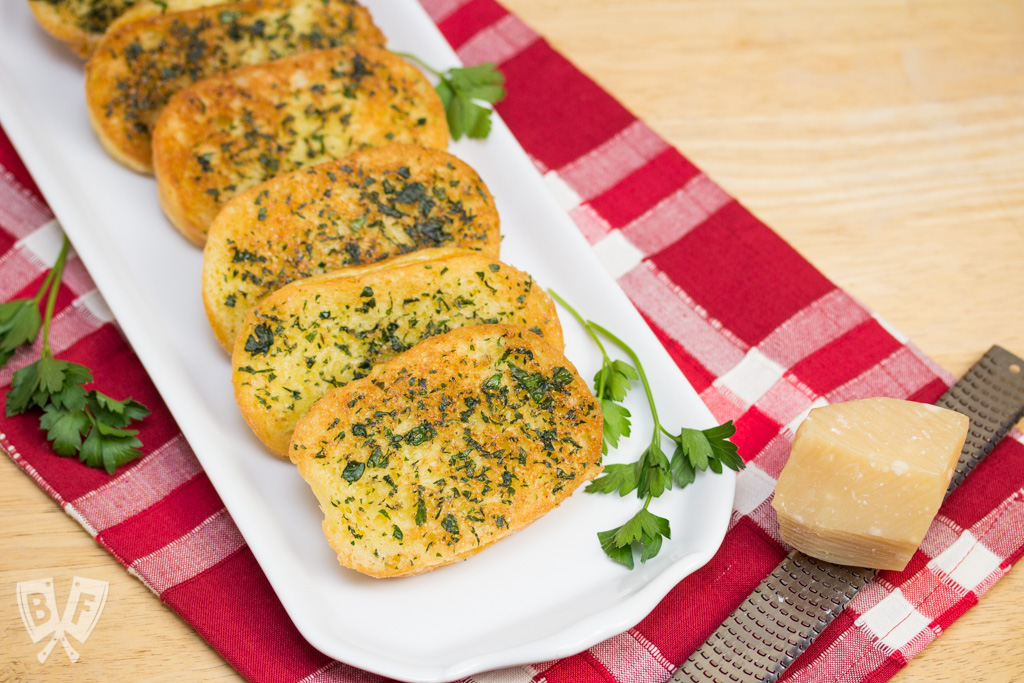 Skillet Garlic Parmesan Bread is a quick, easy, delicious side dish that pairs perfectly with pasta! A great way to jazz up frozen meals or leftovers. Skillet Garlic Parmesan Bread is a quick, easy, delicious side dish that pairs perfectly with pasta! A great way to jazz up frozen meals or leftovers. #goodfoodmadesimple #mambofoodie #ad