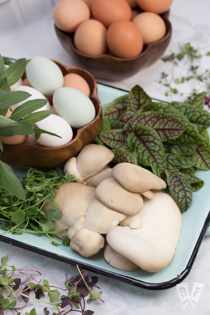 Fresh produce & eggs from the local farm