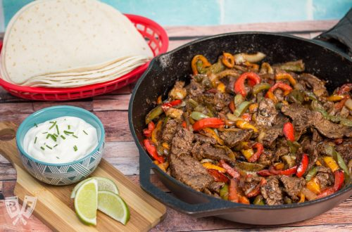Our Favorite Steak Fajitas: These tender steak fajitas are one of my family's very favorite meals - a perfect Tex-Mex dinner made in a single cast iron skillet.