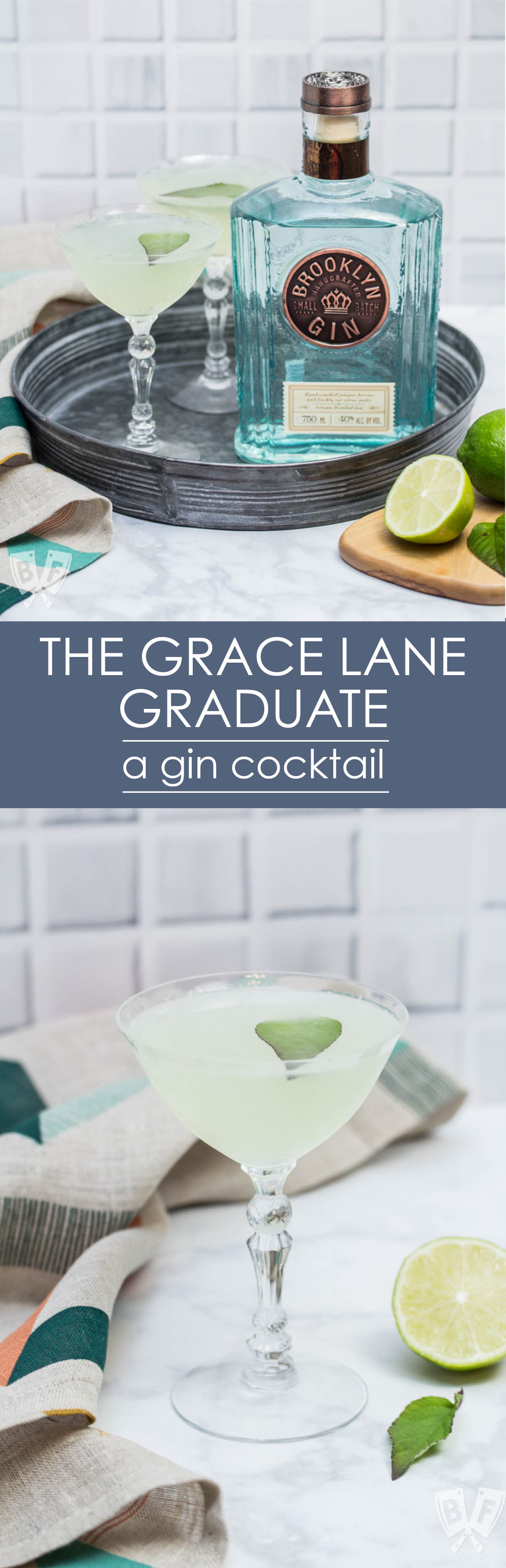 Celebrate your favorite graduate (and #WorldGinDay!) with a well chilled Gin + Green Chartreuse cocktail. And get ready to slap your herb garnish! #ad