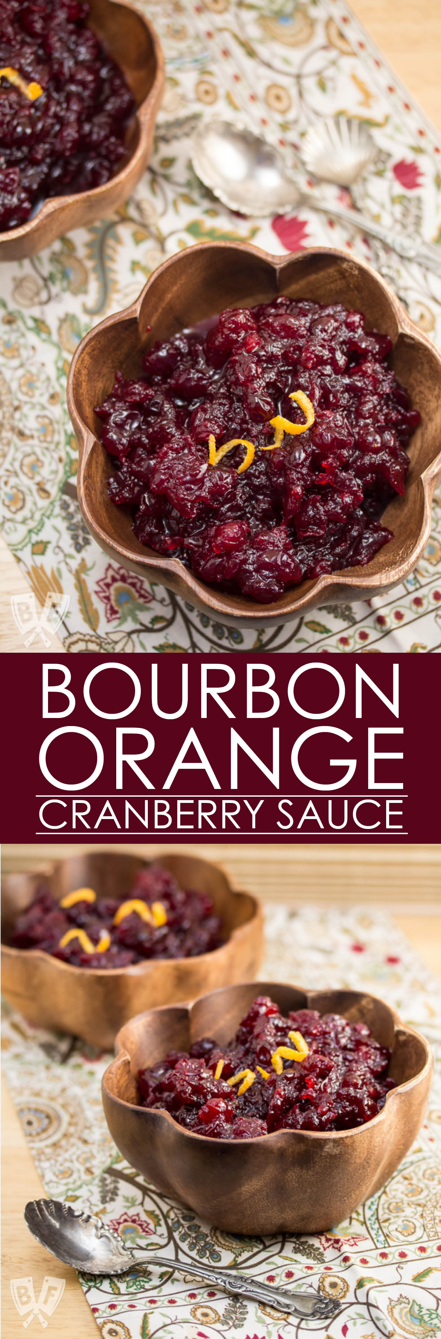 This Bourbon-Orange Cranberry Sauce is a boozy side dish that can be prepared several days in advance and is the perfect accompaniment to any holiday meal! It's always on my Thanksgiving menu!