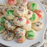 These lemon ricotta cookies are a citrus-studded Italian treat! They're light, fluffy and full of Christmas cheer - perfect for cookie exchanges & holiday parties.