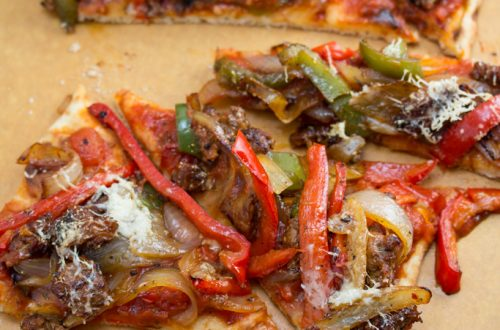 Spicy Italian Sausage and Peppers Pizza - Because what's better than classic Italian comfort food in pizza form?