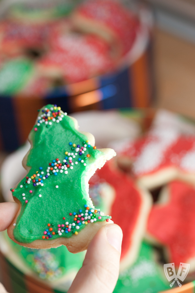 Nothing beats Grandma's recipes! These traditional roll out sugar cookies are a Christmas dessert that keep my grandma's memory alive. Get ready to break out the cookie cutters and decorative sprinkles for these festive treats!