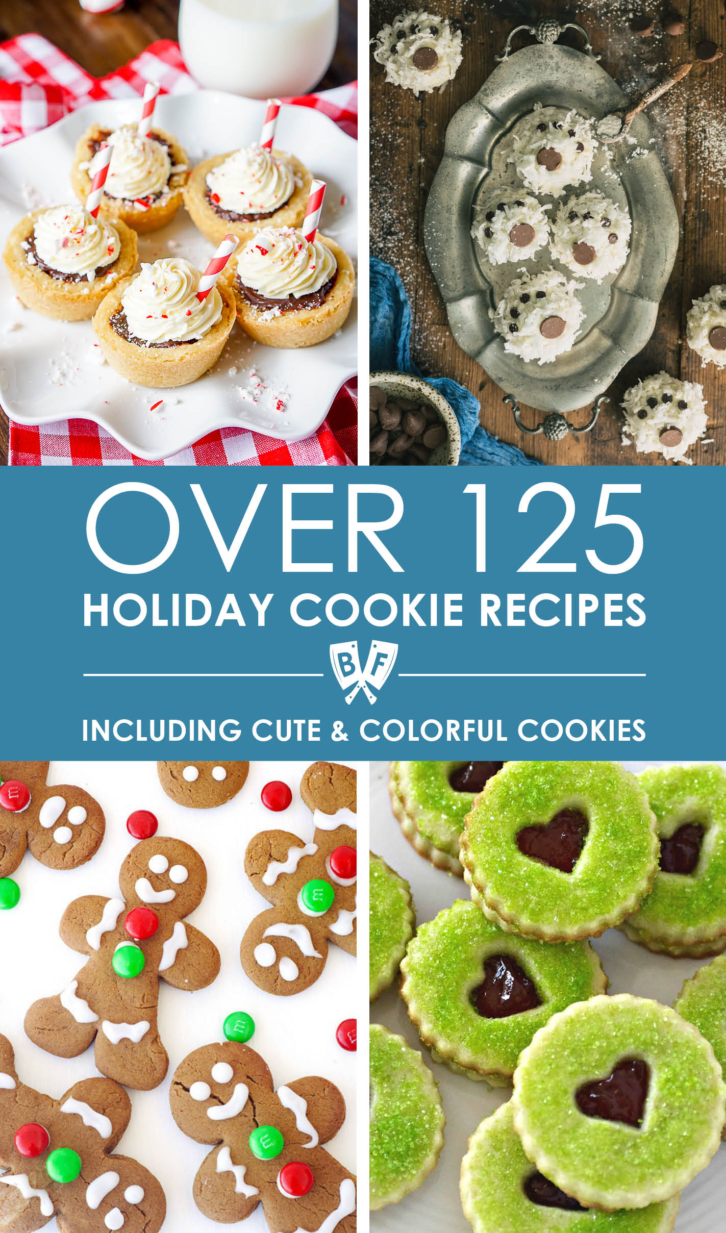This epic holiday cookie recipe roundup contains over 125 favorite Christmas and holiday cookie recipes across 7 different categories to make your holiday baking and cookie swap parties so much easier!